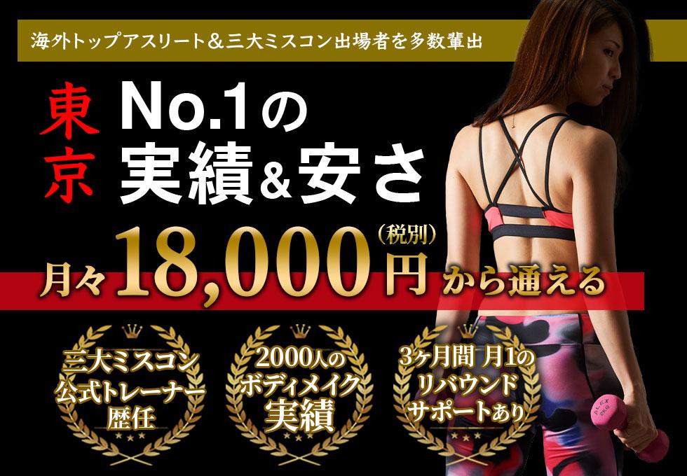 ドクタートレーニングは東京で一番安く実績のあるパーソナルトレーニングジムです