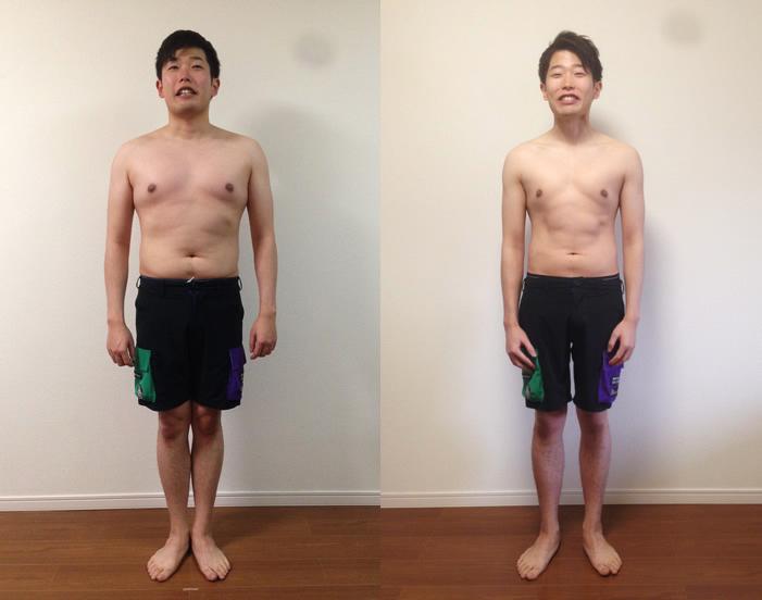 Body Design Program(ボディデザインプログラム)で痩せた宮岡さんの before after