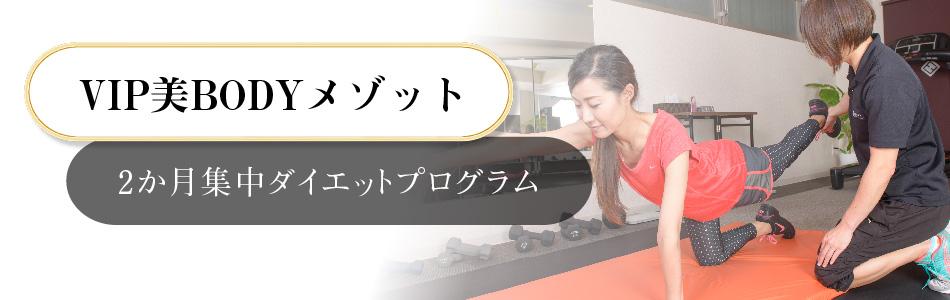 VIP美BODYメゾット(2か月集中ダイエットプログラム)